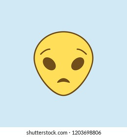 astonished extraterrestrial 2 colored line icon. Simple yellow and brown element illustration. astonished extraterrestrial concept outline symbol design