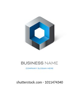 Astract cube logo design