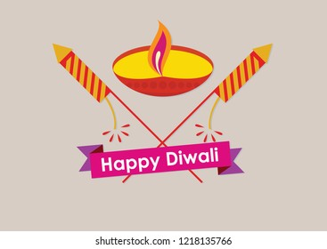 Astract design for happy diwali.