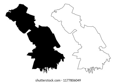 Astrakhan Oblast (Russia, Subjects of the Russian Federation, Oblasts of Russia) map vector illustration, scribble sketch Astrakhan Oblast map