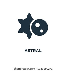 Astral icon. Black filled vector illustration. Astral symbol on white background. Can be used in web and mobile.