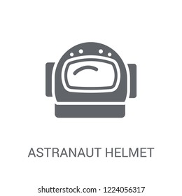 astranaut helmet icon. Trendy astranaut helmet logo concept on white background from Astronomy collection. Suitable for use on web apps, mobile apps and print media.