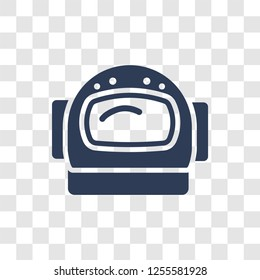 astranaut helmet icon. Trendy astranaut helmet logo concept on transparent background from Astronomy collection