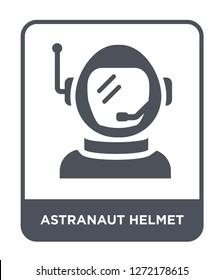 astranaut helmet icon vector on white background, astranaut helmet trendy filled icons from Astronomy collection, astranaut helmet simple element illustration