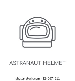 astranaut helmet linear icon. Modern outline astranaut helmet logo concept on white background from ASTRONOMY collection. Suitable for use on web apps, mobile apps and print media.