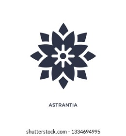 astrantia icon. Simple element illustration from nature concept. astrantia editable symbol design on white background. Can be use for web and mobile.