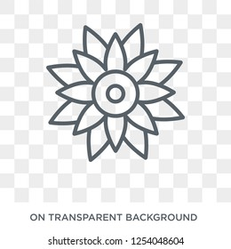 Astrantia icon. Trendy flat vector Astrantia icon on transparent background from nature collection. High quality filled Astrantia symbol use for web and mobile