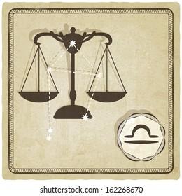 astrological sign - libra - vector illustration