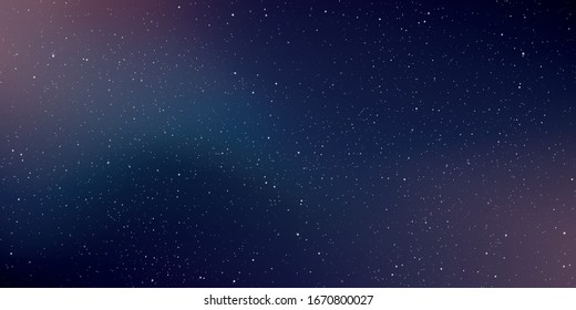 Astrology horizontal background. Star universe background. Milky way galaxy. Vector Illustration.
