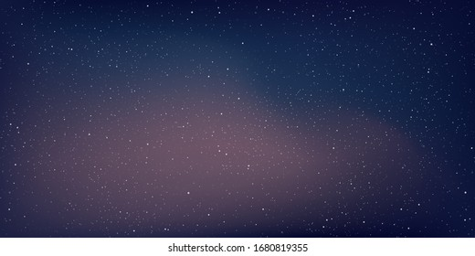 Astrology horizontal background, Starry sky colourful glow, Milky way galaxy in the cosmos, Vector Illustration.