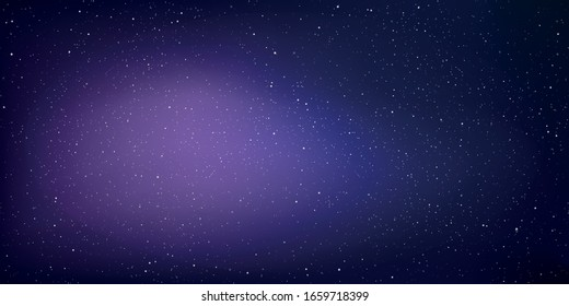 Astrology horizontal star universe background, The night with nebula in the cosmos, Milky way galaxy in the infinity space, Vector illustration, EPS 10