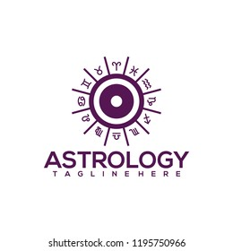 Astrology Logo Design Vector. Astrology Logo Template Ready to Use