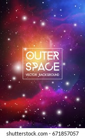 Astrology Mystic Galaxy Background. Vector Digital Colorful Illustration of  Outer Space.