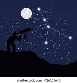 astrology sign cancer vector illustration