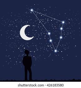 astrology sign capricorn vector illustration