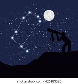 astrology sign gemini vector illustration