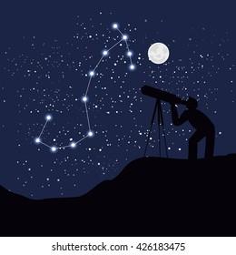 astrology sign scorpio vector illustration