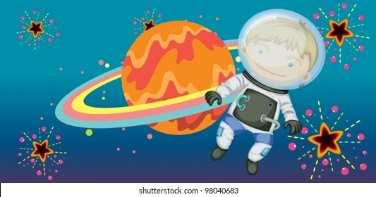 astronaught in the sky