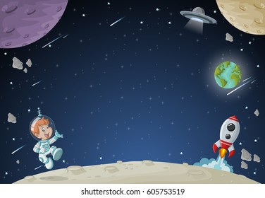 Cartoon Astronaut Images Stock Photos Vectors Shutterstock