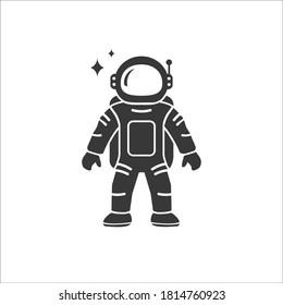 Astronaut Flat Icon Vector illustration