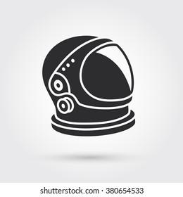 astronaut helmet big glass reflection stock vector royalty free