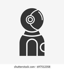 Astronaut  icon illustration isolated vector sign symbol