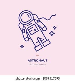 Astronaut Line Icon