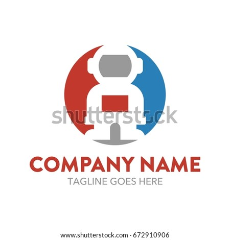 astronaut logo template stock vector royalty free 672910906