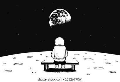 Sitting On Moon Images Stock Photos Amp Vectors Shutterstock