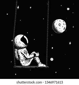 astronaut sits on swing alone 260nw 1346971613