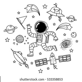 Space Doodle Images Stock Photos Vectors Shutterstock