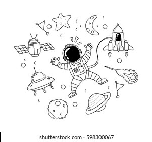 Outer Space Drawings Images Stock Photos Vectors Shutterstock