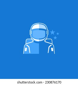 Astronaut Vector Avatar Flat Icon