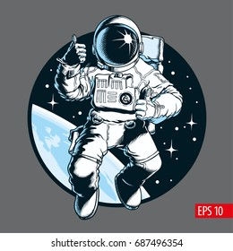 Astronaut, vector illustration