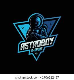 Astronauts mascot for esport and sport team logo Premium Vector