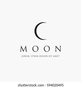 Astronomical logo design. The Moon is the Earth's satellite