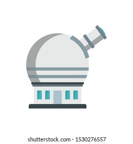 Astronomical observatory icon. Flat illustration of astronomical observatory vector icon for web design