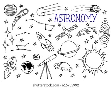 astronomy and space doodle