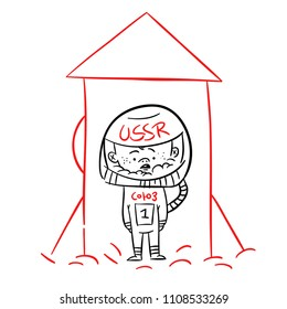 astronout boy vector