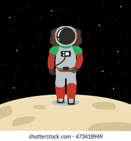 Astronout | Editable outer space vector illustration in flat style