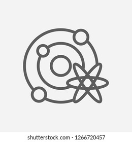 Astrophysics icon line symbol. Isolated vector illustration of  icon sign concept for your web site mobile app logo UI design.