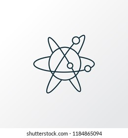 Astrophysics icon line symbol. Premium quality isolated atom element in trendy style.