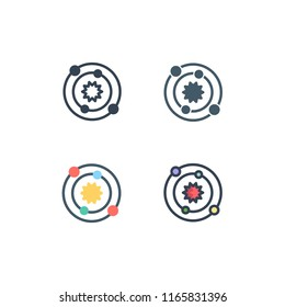 astrophysics icons vector with four different style