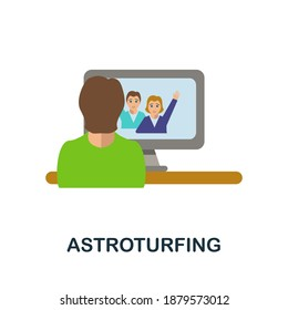 Astroturfing flat icon. Color simple element from activism collection. Creative Astroturfing icon for web design, templates, infographics and more