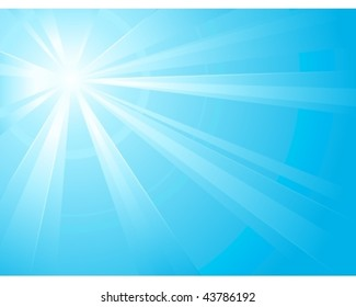 Asymmetric light burst with the center in the upper left third. Ideal for winter backgrounds. Use of linear and radial gradients. Artwork grouped and layered. Global colors.