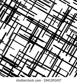 asymmetrical texture with intersecting vertical and horizontal lines abstract geometric pattern black and white
