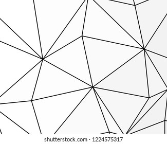 Asymmetrical texture with random chaotic lines, abstract geometric pattern. Black and white vector illustration of design element for creating modern art backgrounds, patterns. Grunge urban style.