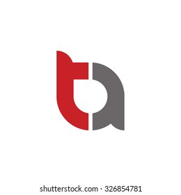 at, ta initial overlapping rounded letter logo