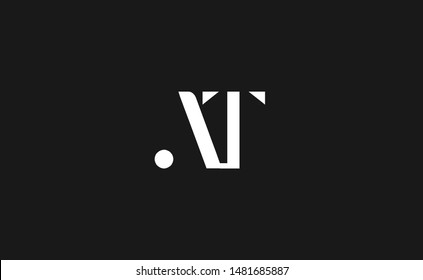 AT, TA Letter Logo Design with Creative Modern Trendy Typography