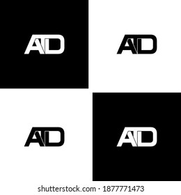 atd letter original monogram logo design